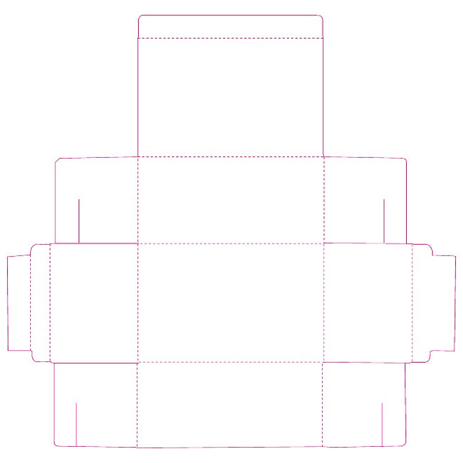 660x660 Packaging Template Vector Design