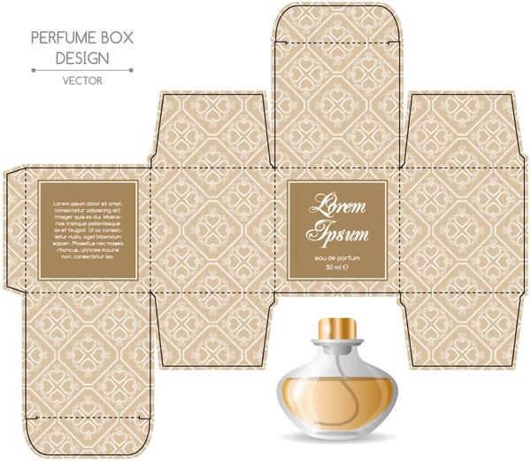 600x520 Perfume Box Packaging Template Vectors Material 10 Free Download