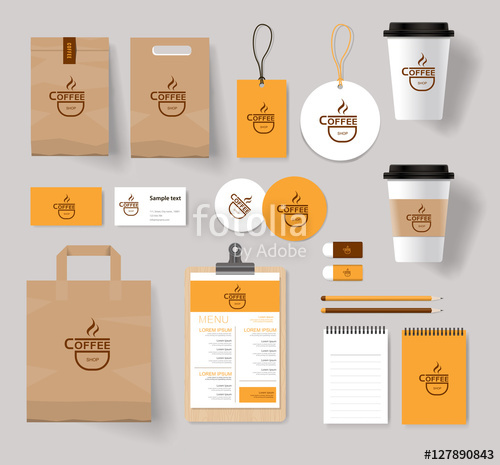500x465 Corporate Branding Identity Mock Up Template For Coffee Shop And