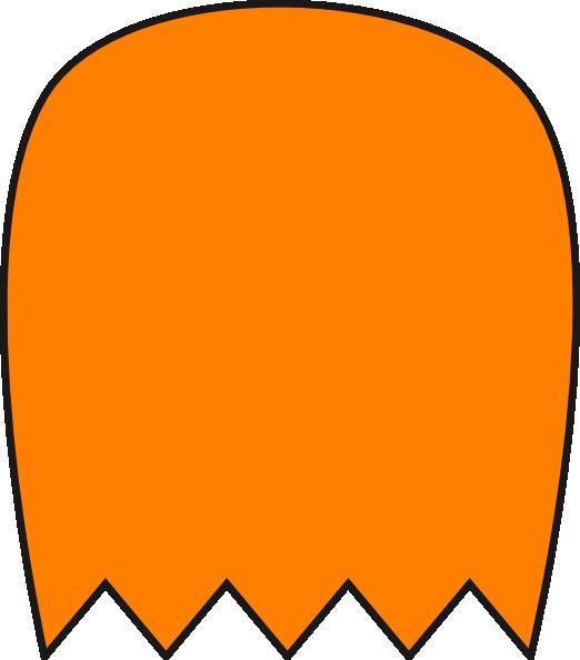 522x594 Orange Pacman Ghost Clip Art