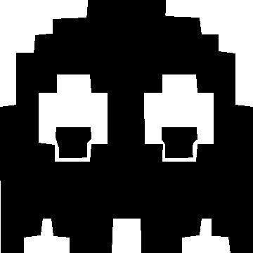 360x360 Pacman Ghost Decal Sticker