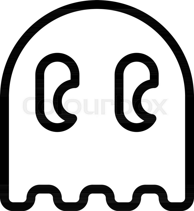 734x800 Pacman Ghost Character Stock Vector Colourbox