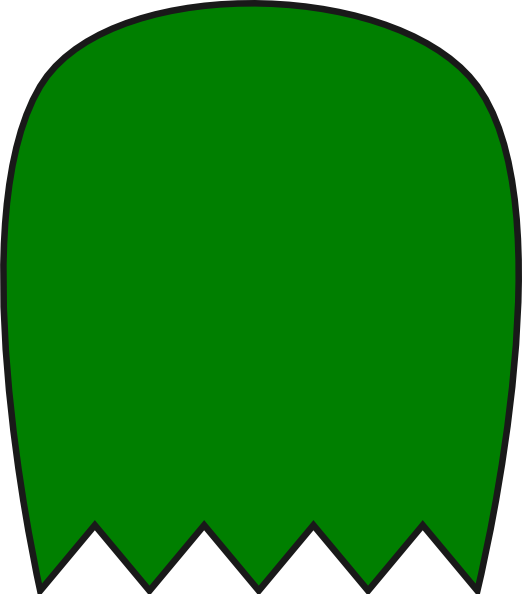 522x594 Green Pacman Ghost Clip Art