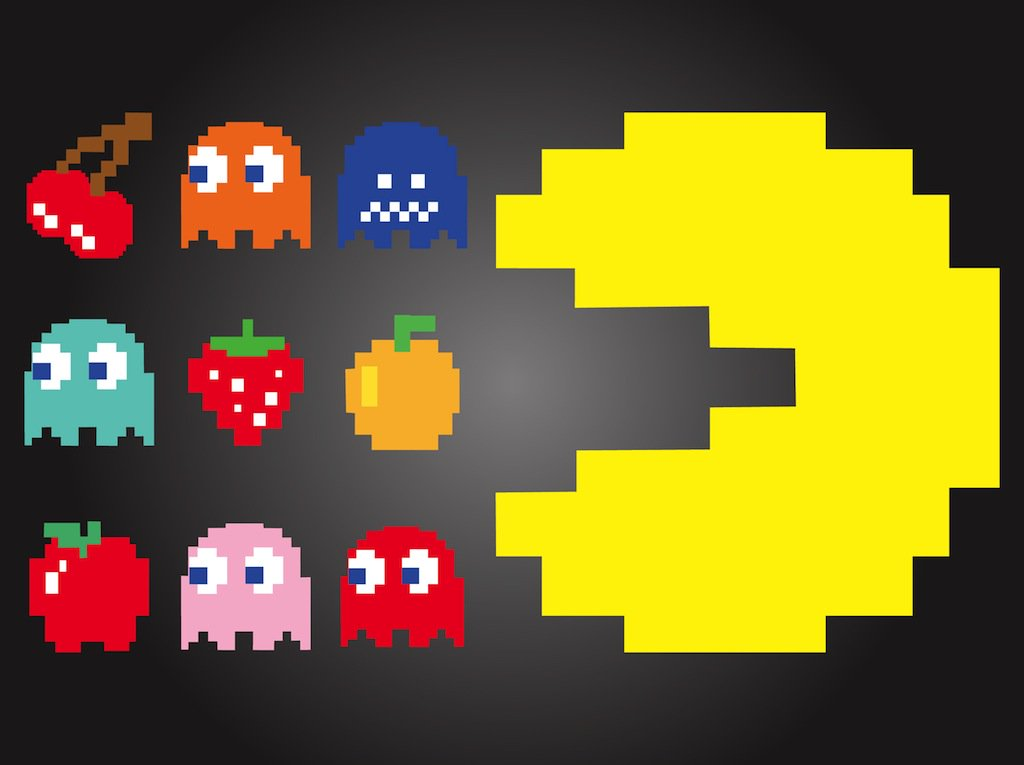 1024x765 Pac Man Characters Vector Art Amp Graphics