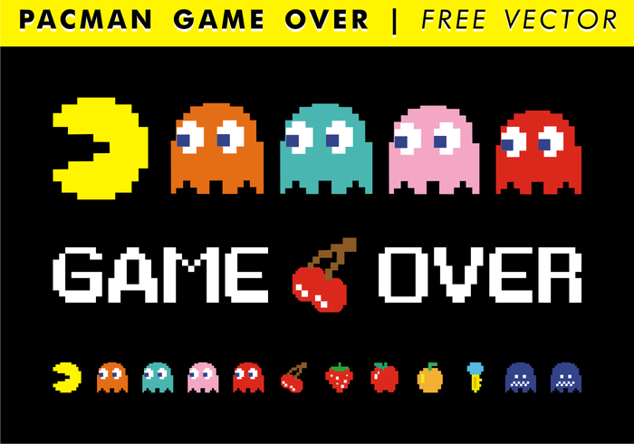 700x490 Pacman Game Over Free Vector