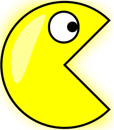 436x500 Pacman Vector Drawing Public Domain Vectors