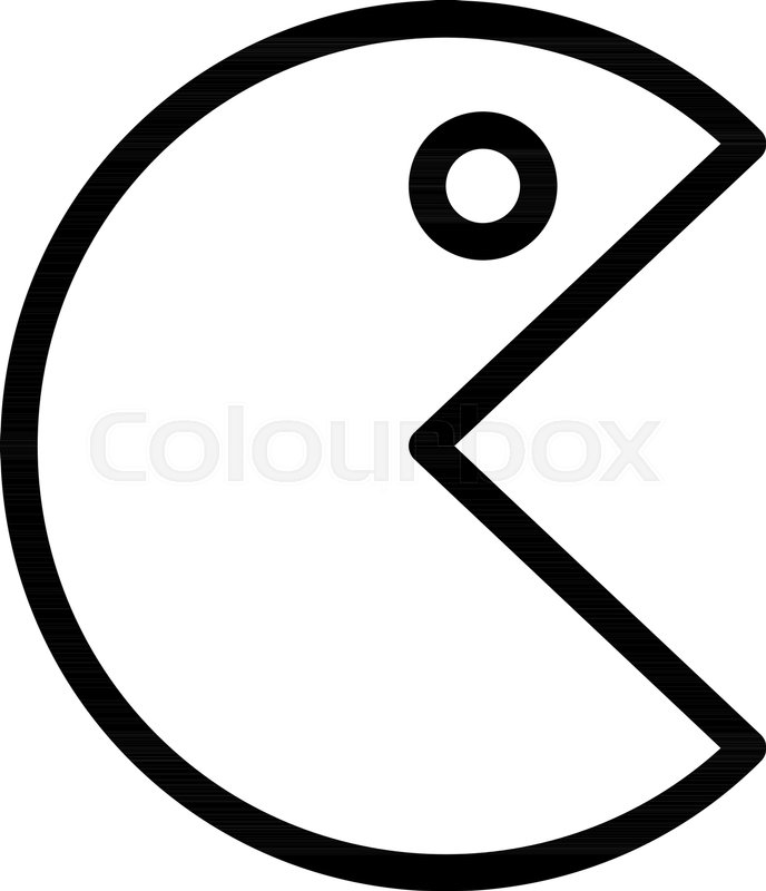 688x800 Scary Pacman Character Stock Vector Colourbox