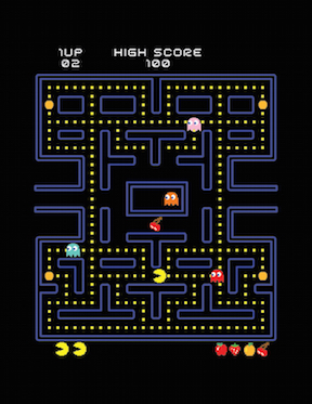 288x373 Free Vector Pac Man Game Screen