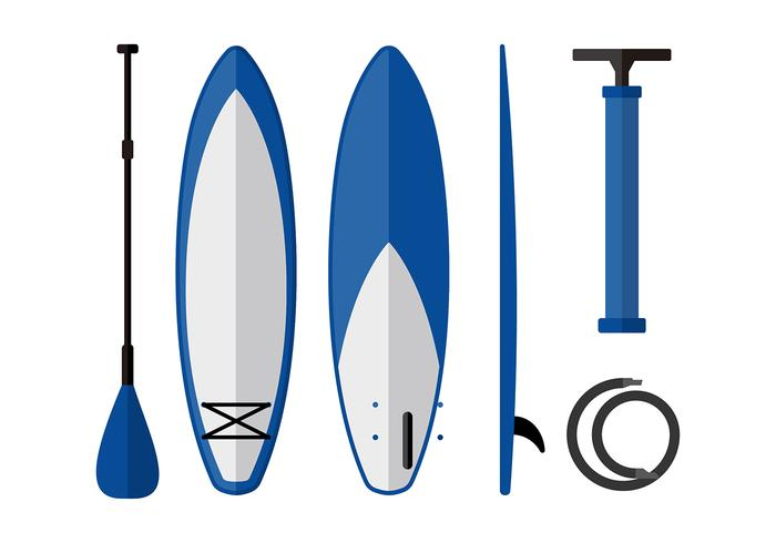 700x490 Paddle Board Equipment Free Vector