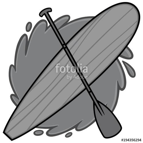 500x500 Paddle Board Illustration