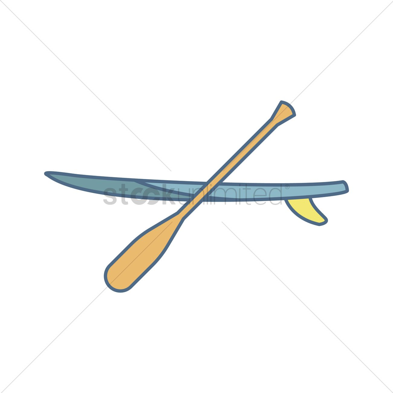 1300x1300 Stand Up Paddle Board And Paddle Stick Vector Image