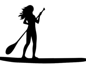 340x270 Stand Up Paddle Board Clip Art Free Vector Download
