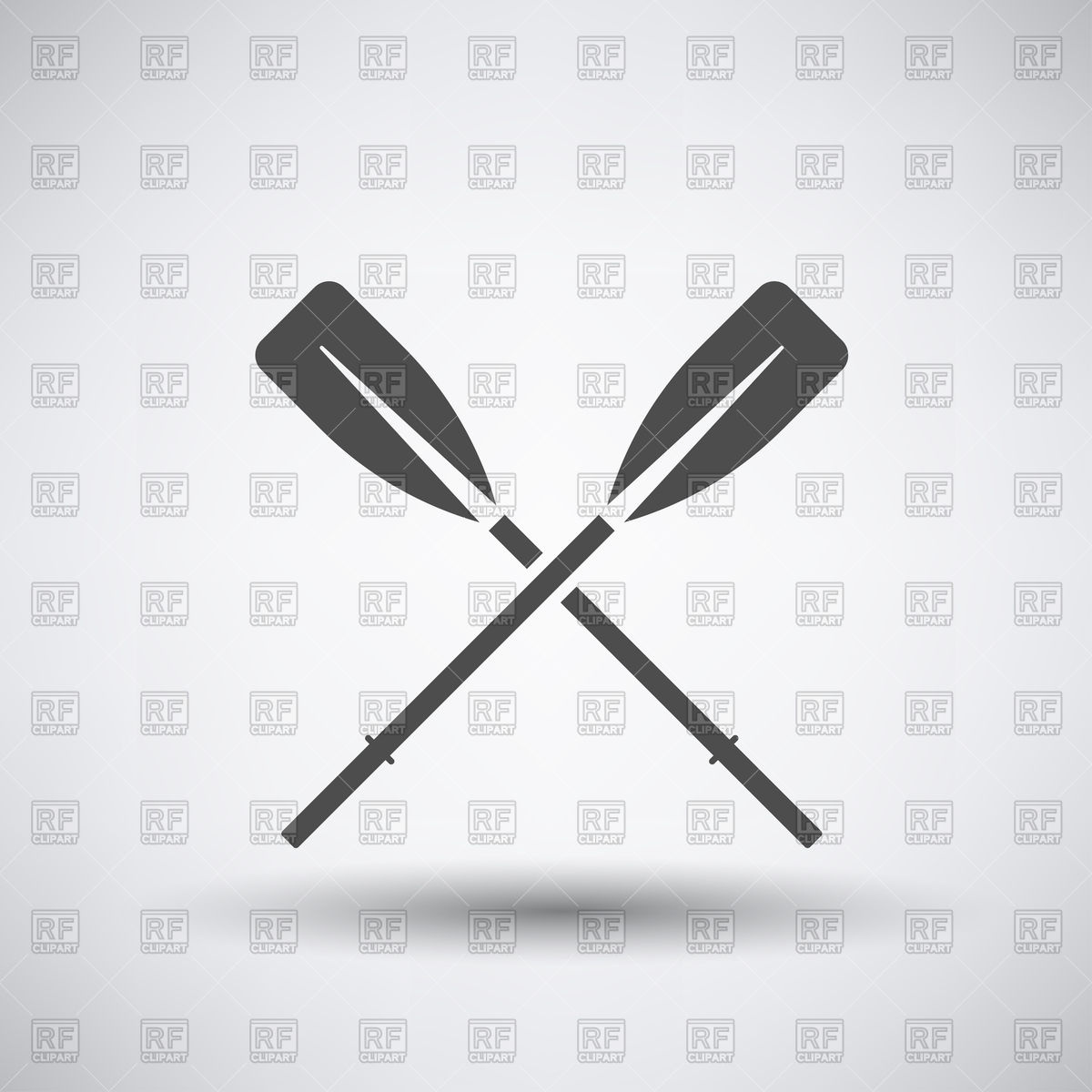1200x1200 Crossed Paddles Icon Vector Image Vector Artwork Of Icons And
