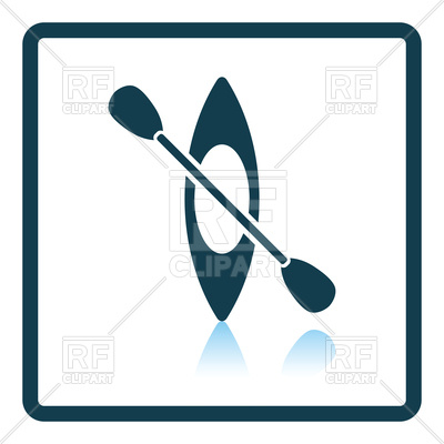 400x400 Icon Of Kayak And Paddle Vector Image Vector Artwork Of Objects