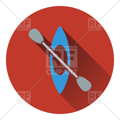 400x400 Icon Of Kayak And Paddle Vector Image Vector Artwork Of Signs