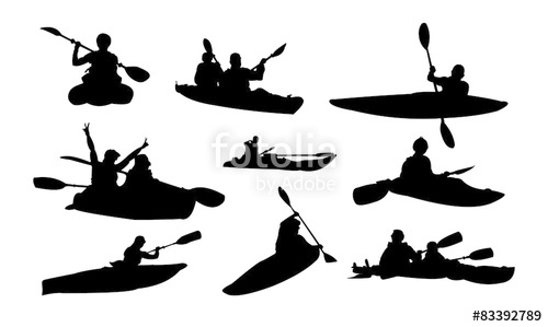 500x299 Kayak Paddle Boat Silhouette Stock Image And Royalty Free Vector