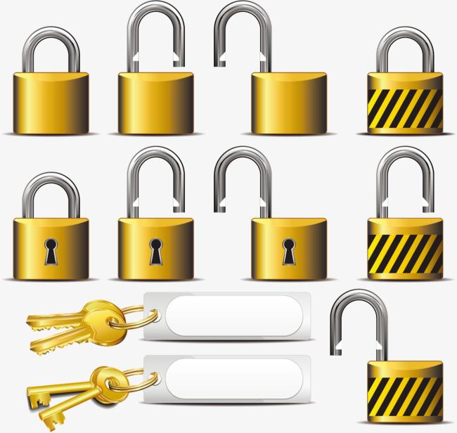 650x616 Vector Golden Lock And Key, Lock Vector, Key Vector, Golden Key