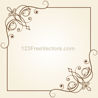 340x340 Antique Floral Borders Vectors Download Free Vector Art