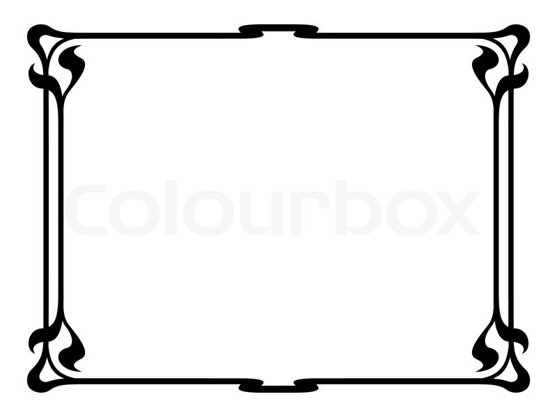 800x600 Vector Art Nouveau Black Modern Ornamental Decorative Frame