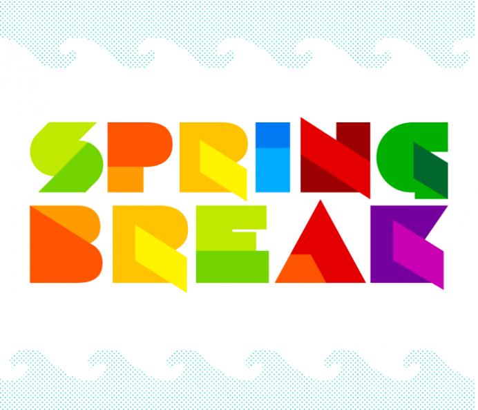 692x593 Spring Break Vector