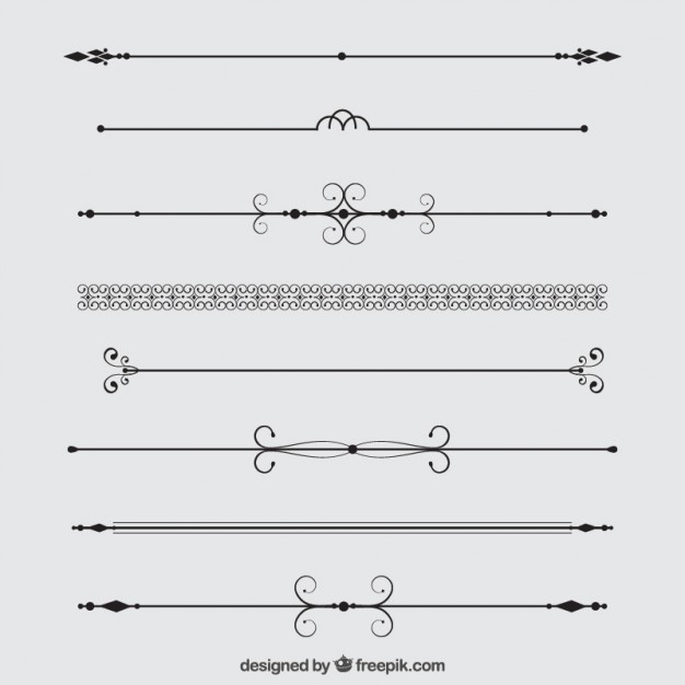626x626 Decorative Dividers Collection Vector Free Download