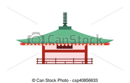 450x289 Japanese Temple Isolated. Pagoda Tower. Vector. Japanese Temple