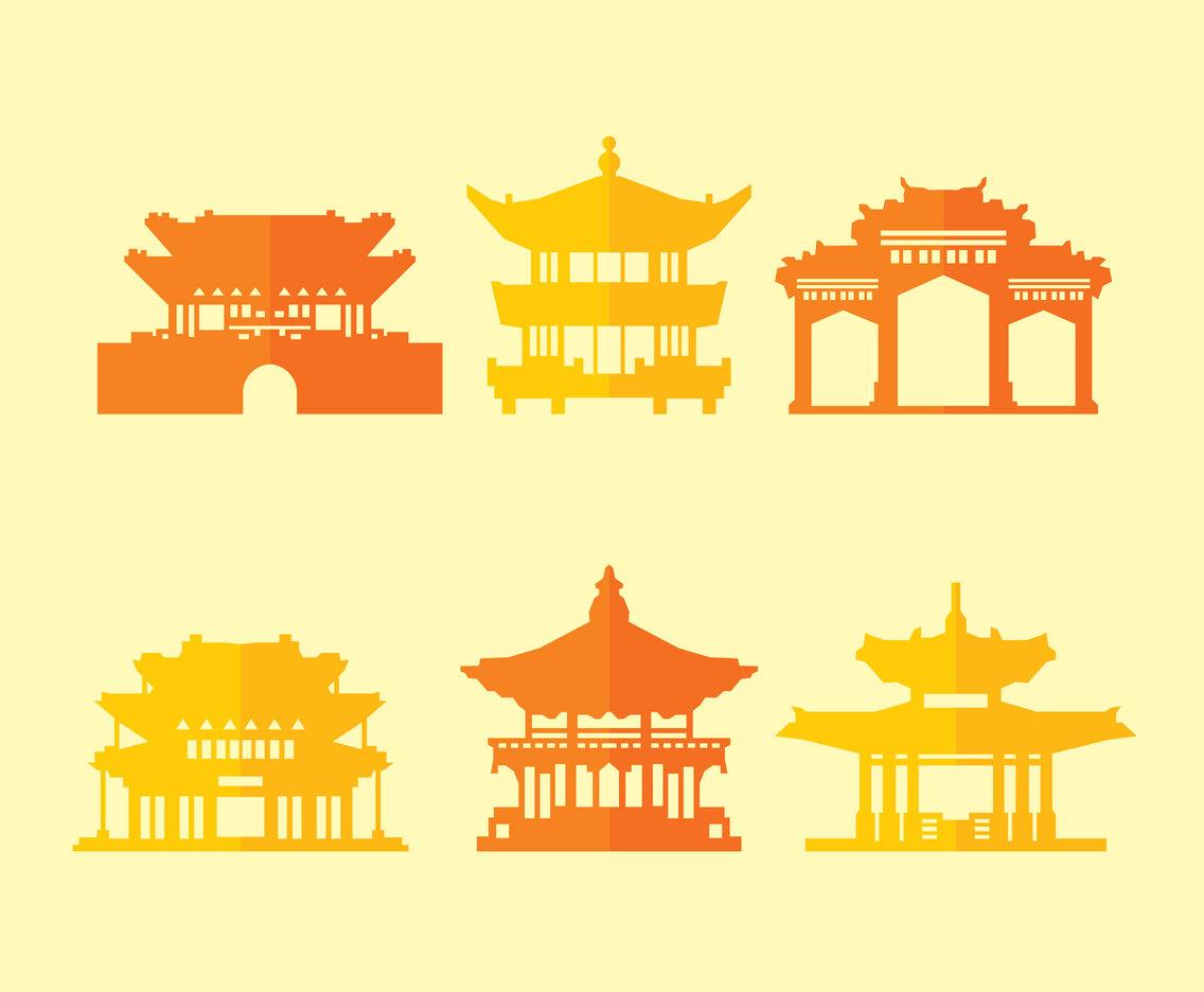 1136x936 Pagoda Collection Vector Vector Art Amp Graphics