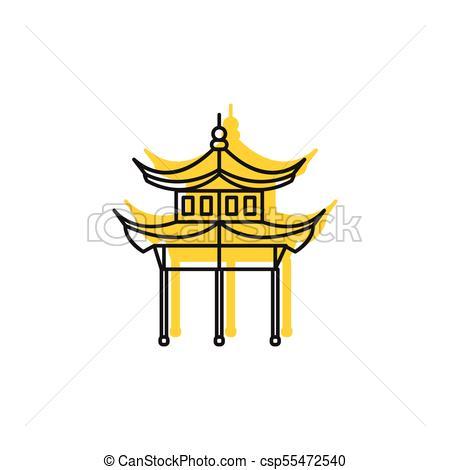 450x470 Pagoda Icon, Doodle Style. Pagoda Icon. Doodle Illustration Of