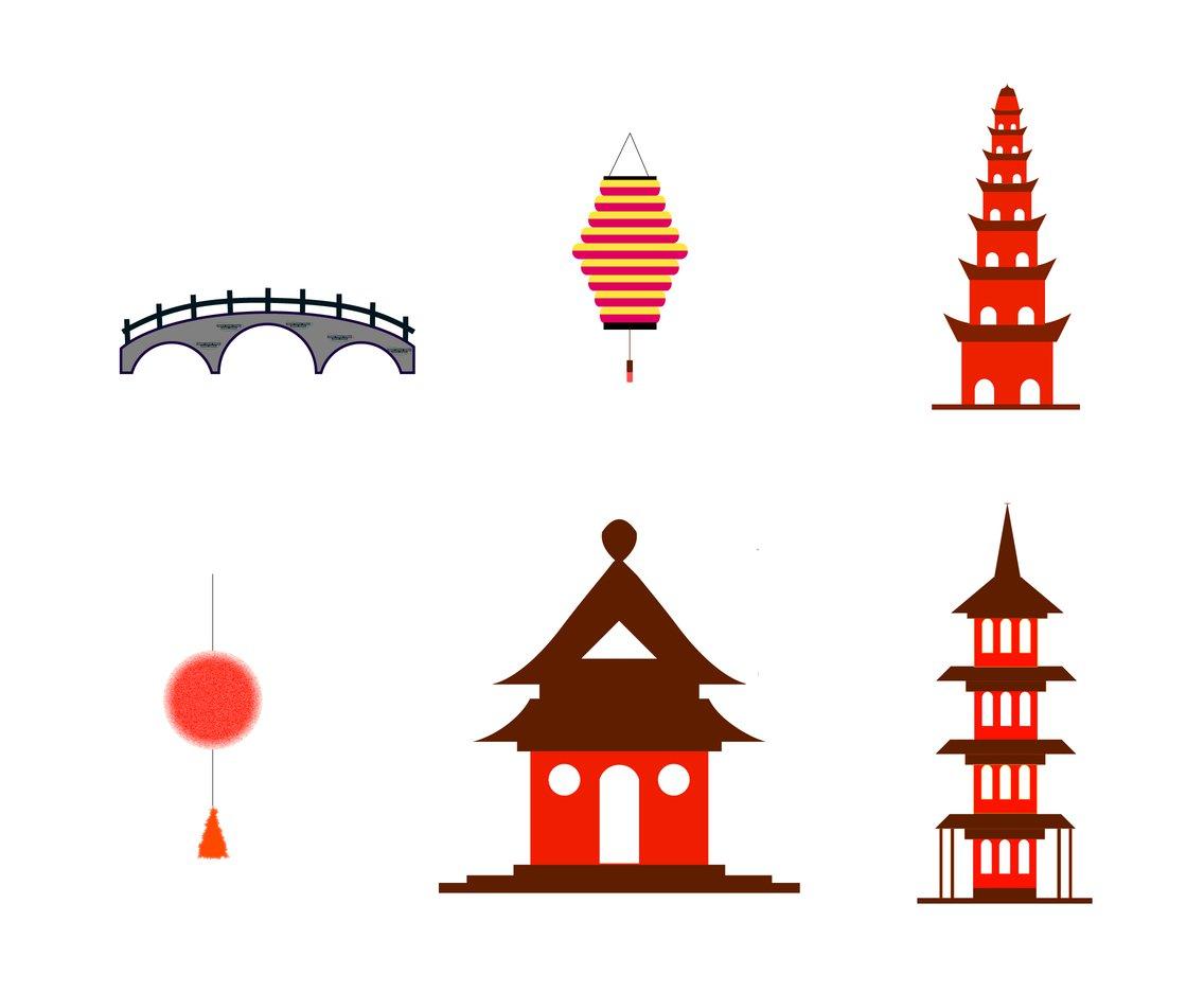 1136x936 The Pagoda Vector Vector Art Amp Graphics