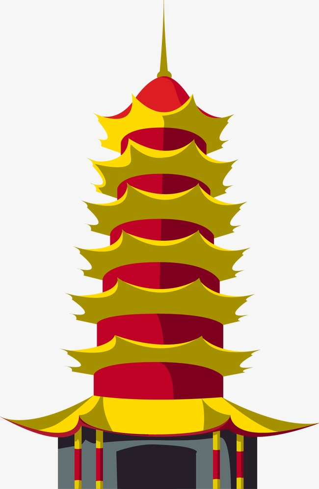 650x995 Chinese Pagoda Style Buildings, Chinese Vector, China, Building