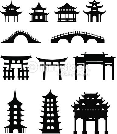 386x444 Vector Art Chinese Traditional Buildings Home