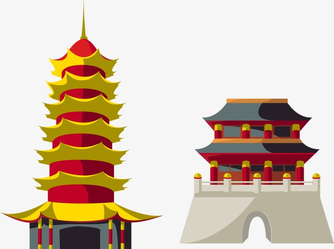 650x485 Vector Pagoda, Pagoda, City Gate, Yellow Png And Vector For Free