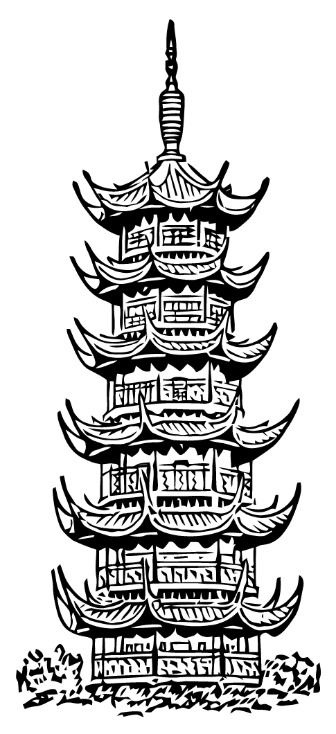 485x1060 Ephemeraphilia Free Vector Art Pagoda