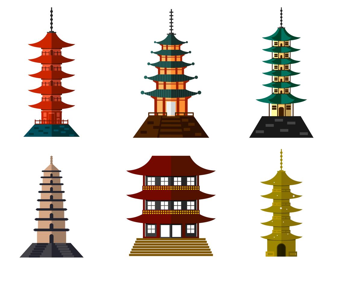 1136x936 Free Pagoda Vector Vector Art Amp Graphics