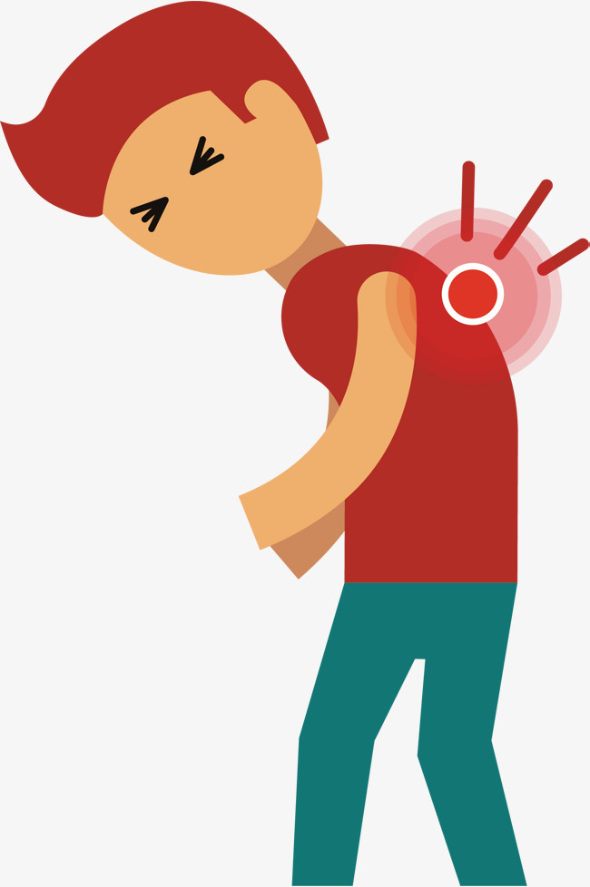 650x978 Back Pain Vector, Hand, Red Haired Boy, Short Hair Png And Vector