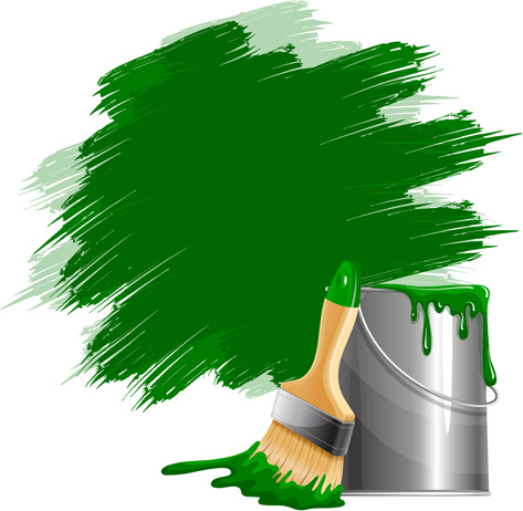 473x462 Green Paints With Paint Bucket Vector Free Vector In Encapsulated
