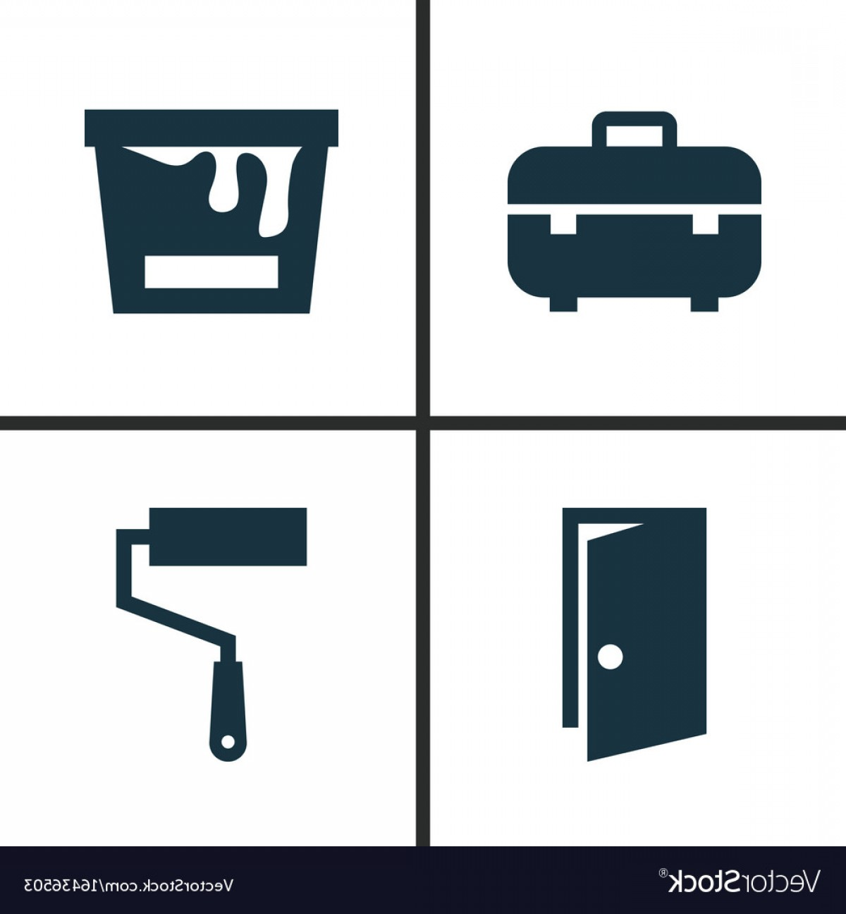 1200x1296 Industry Icons Set Collection Of Paint Bucket Vector Rongholland