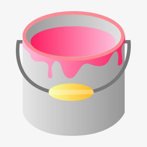 500x500 Paint Bucket Vector, Paint Bucket, Vector, Material Png And Vector