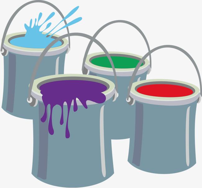 650x607 Paint Bucket Vector Decoration, Paint Vector, Decoration Vector
