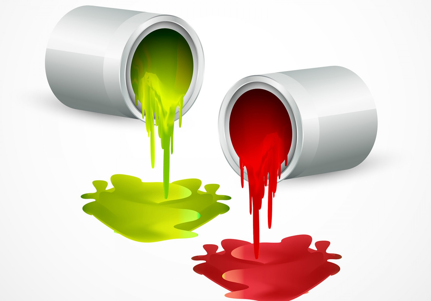 1680x1176 Paint Bucket Vectors With Colors Arenawp