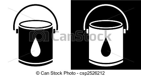 450x244 Paint Bucket. Paint Bucket Isolated On White Background.