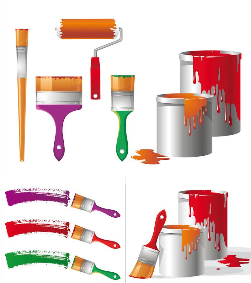 800x900 Paint Buckets Vector Vector Graphics Blog