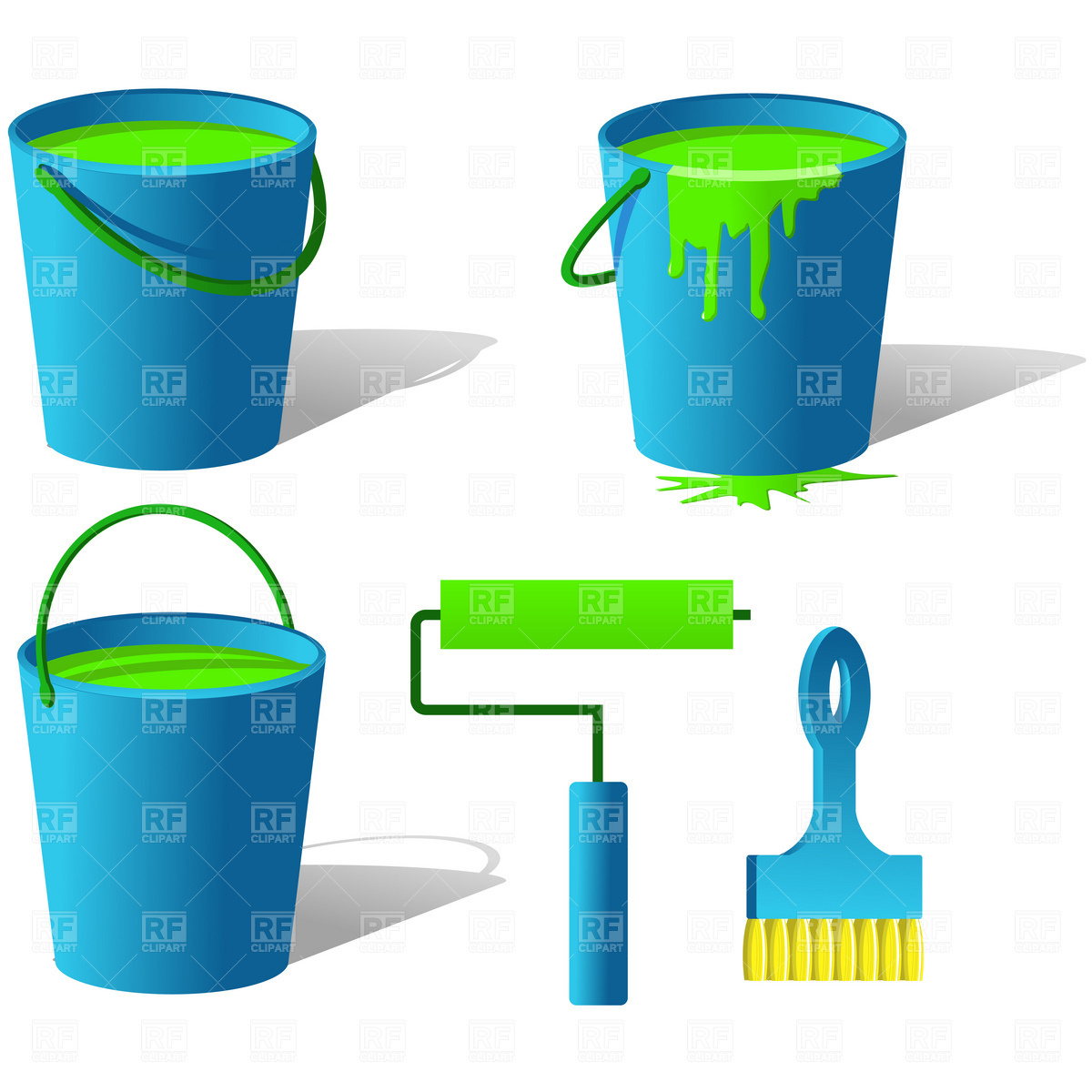 1200x1200 Bucket With Paint Vector Image Vector Artwork Of Objects Good