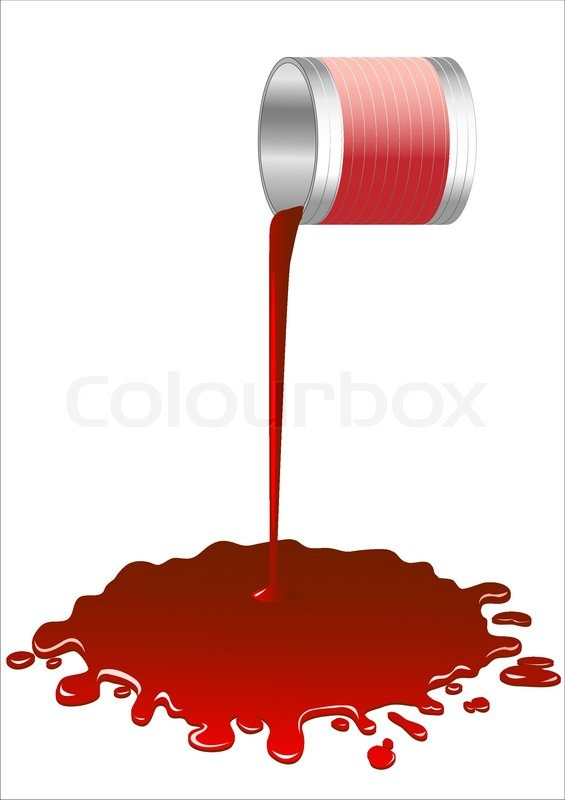 565x800 Spilled Red Paint From A Bucket.vector Stock Vector Colourbox