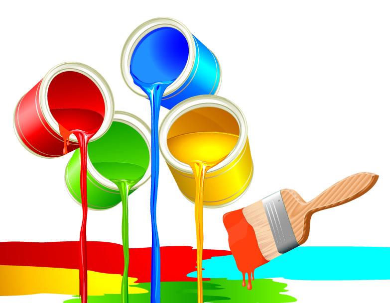 783x609 Vector Colorful Paint Bucket Free Vector 4vector
