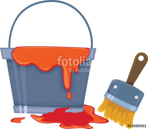 500x436 Paint Bucket And Brush Stock Image And Royalty Free Vector Files