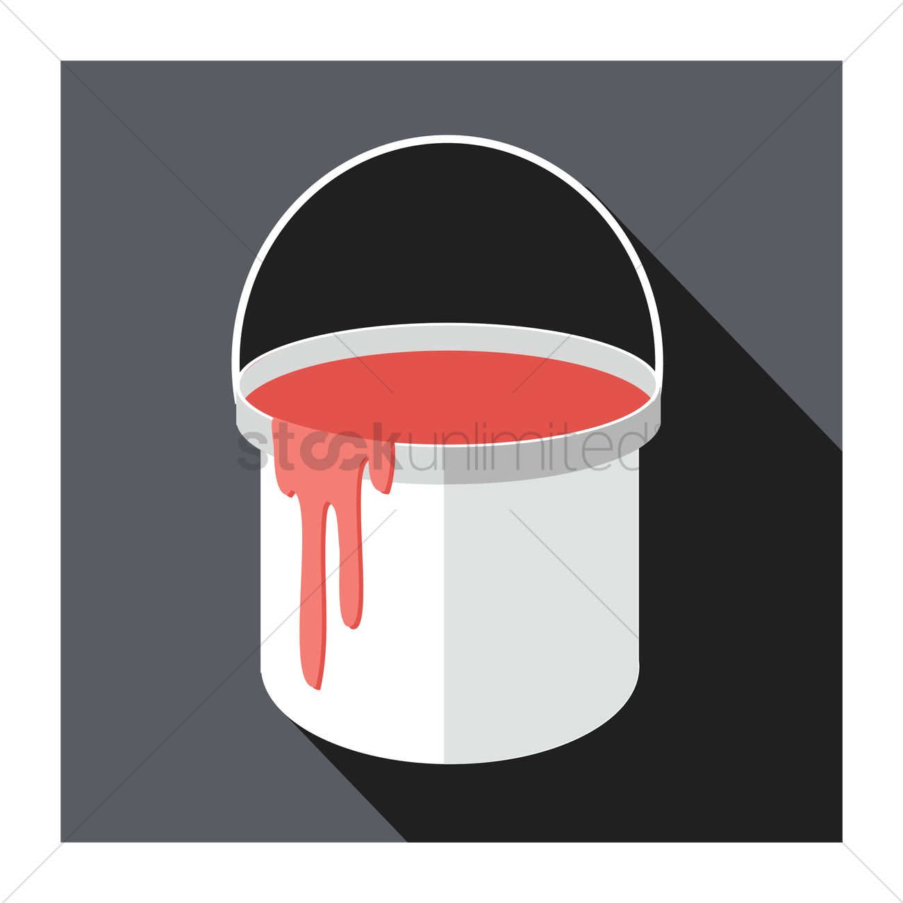 1300x1300 Free A Paint Bucket Vector Image