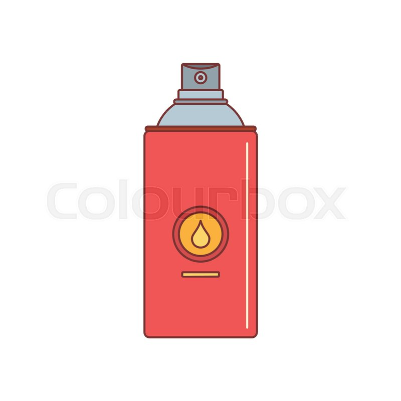 800x800 Spray Paint Can Icon. Cartoon Illustration Of Spray Paint Can
