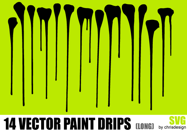 600x425 Free Vector Paint Drips 123freevectors