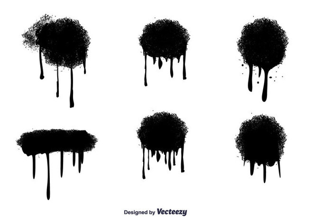 632x443 Vector Spray Paint Drips Free Vector Download 346763 Cannypic